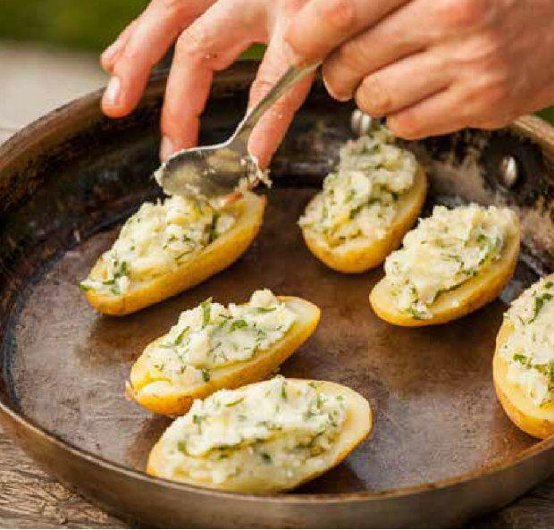 Brambory plněné bramborami a zlatou cibulkou, Foto: Zelenina moje láska