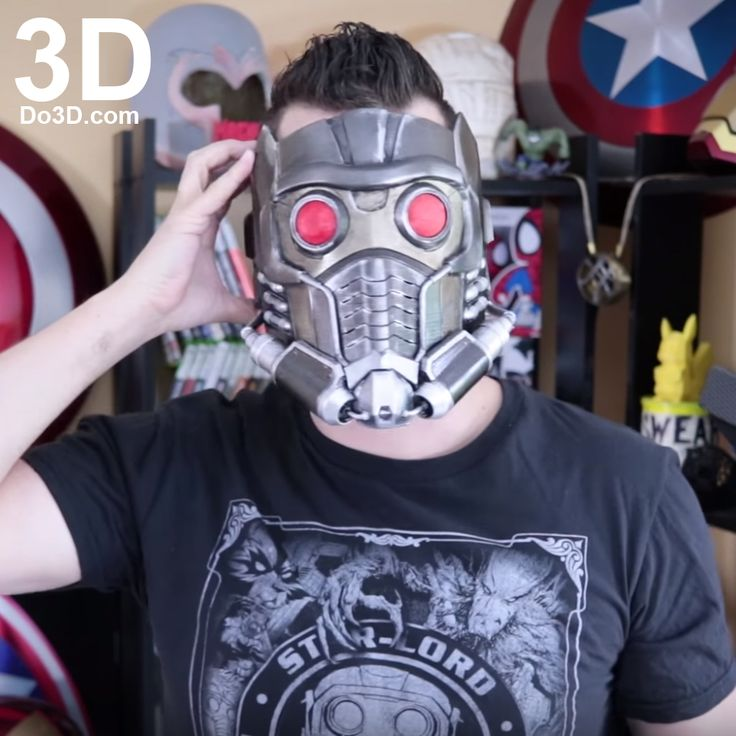 3D Printable Model: Star-Lord New Guardians of the Galaxy Vol. 2 Helmet | Print File Format: STL – Do3D.com