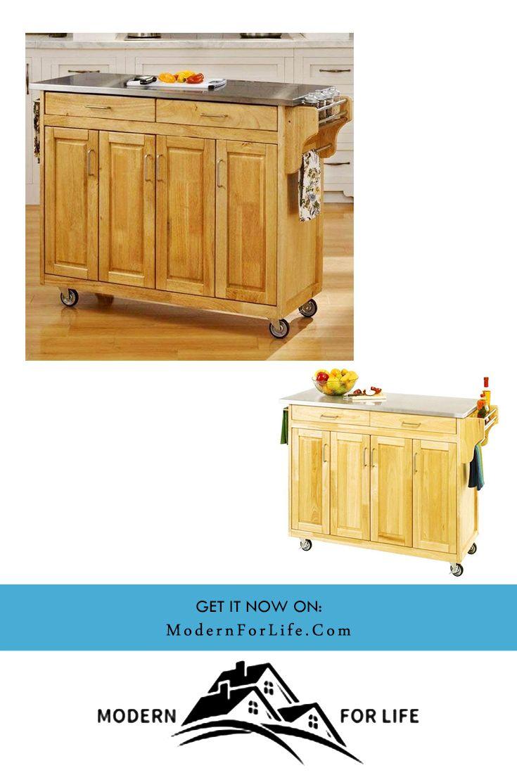 Stainless Steel Top Kitchen Cart In 2020 Kitchen Cart Kitchen Trolley Kitchen Island Cart