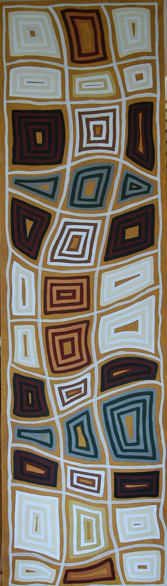 Oil and acrylic on canvas, 45x160cm