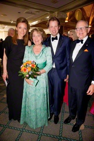 (C) Princess Margriet and her husband Pieter van Vollenhoven (R), her youngest son Prince Floris and her daughter in-law Princess Aimee (L) attend the Night of the Stars Gala at the Kurhaus in Scheveningen, The Netherlands, 13 April 2015. The annual benefit dinner is organized by the Holland America Friendship Foundation with American guest from political, business en cultural sectors.
