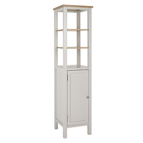 Buy John Lewis Croft Collection Blakeney Bathroom Tallboy, Light Silver Online at johnlewis.com