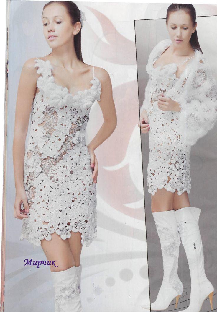 Mejores 57 imágenes de crocheted dress en Pinterest   Vestidos de ...