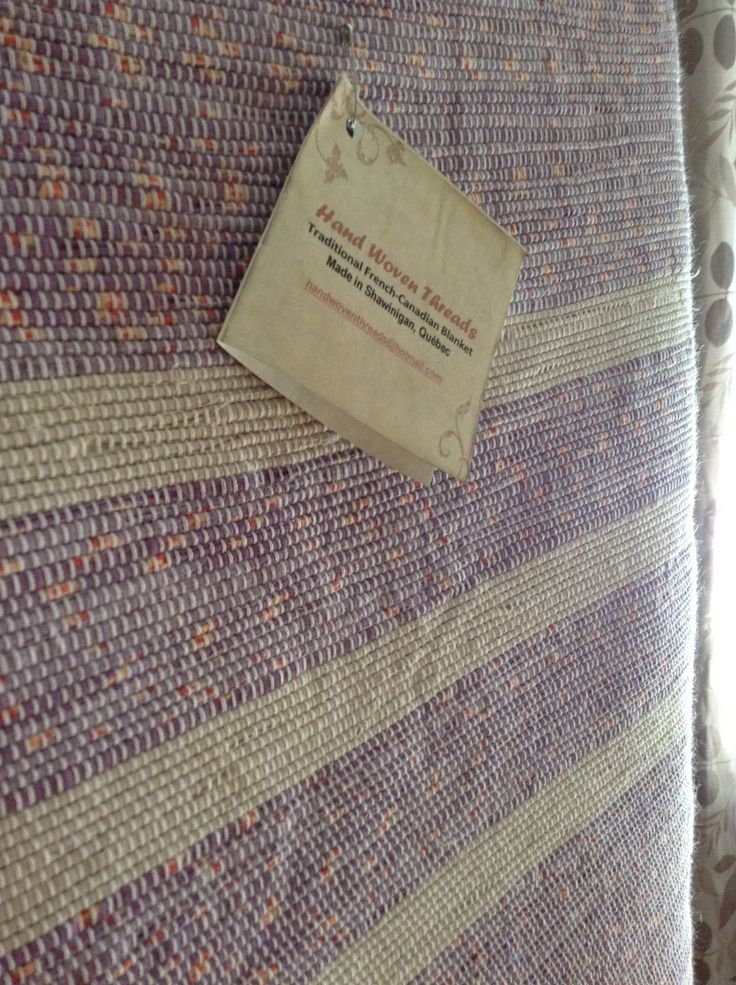 """Handwoven Queen Catalogne """"French Canadian Blanket"""" by handwoventhreads on Etsy https://www.etsy.com/listing/250175341/handwoven-queen-catalogne-french"""