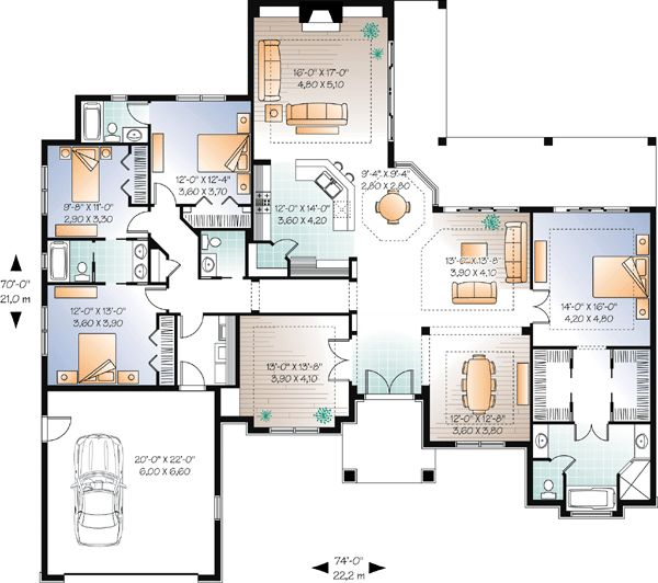 House Plan chp-38945 at COOLhouseplans.com