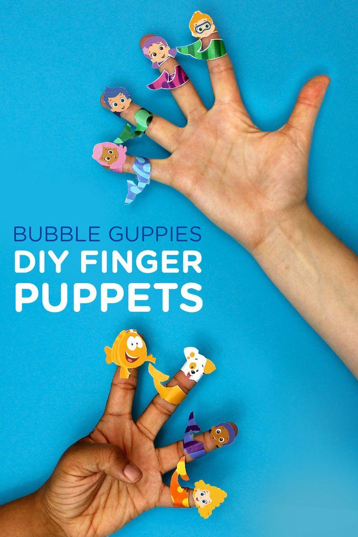 Bubble Guppies Printable Finger Puppets Bubble Guppies