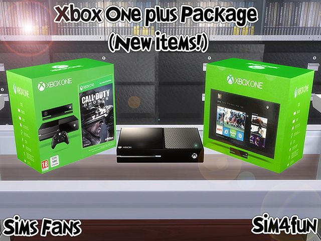 Xbox One plus Package by Sim4fun at Sims Fans via Sims 4 Updates