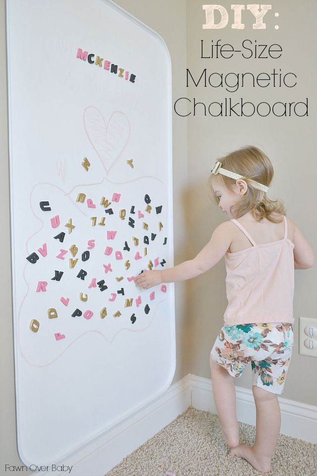 DIY: Life-Size Magnetic Chalkboard under $15