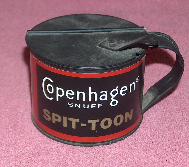 #vintage copenhagen snuff spit-toon #travel cup with flip lid - mfg advertising from $9.9