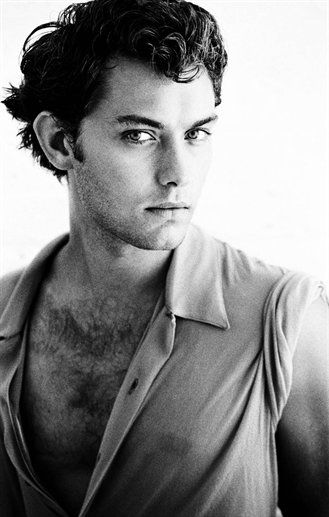 Jude Law in his youth - photographed by celebrity photographer Greg Gorman on NOWNESS.