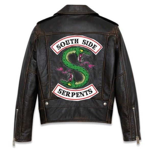 Leather Biker Serpent Jacket (I MADE THIS ❤ liked on Polyvore featuring outerwear, jackets, leather jackets, biker style leather jacket, biker jackets, 100 leather jacket and genuine leather jackets