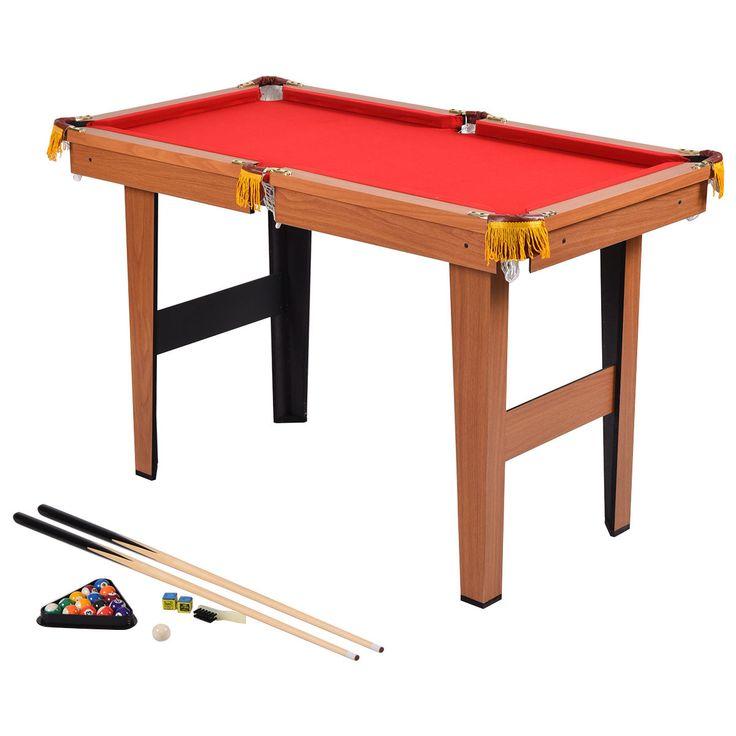 48u201d Mini Table Top Pool Table Game Billiard Set Cues Balls Gift Indoor  Sports