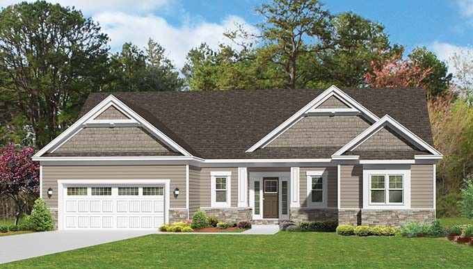 Ranch House Plan with 1796 Square Feet and 3 Bedrooms from Dream Home Source   House Plan Code DHSW076920