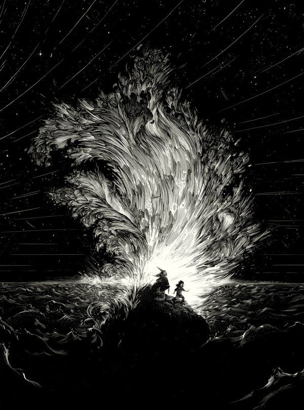Scratchboard Illustrations by Nicolas Delort. Lots of examples of this technique