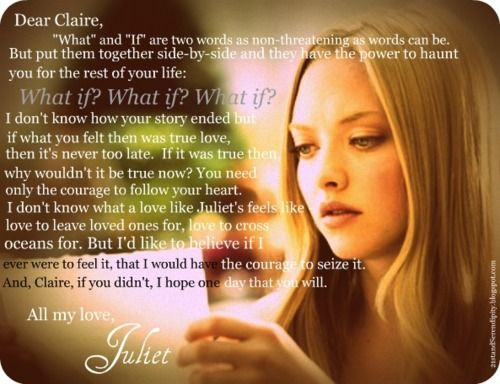 """""""What If"""" - Letters to Juliet quote"""