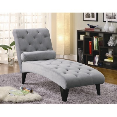 Wildon home palmer velour chaise in grey 236 for the home pinterest ma - Chaise pliante velours ...