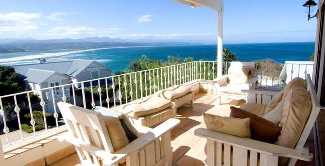 Enjoy panoramic views from the sparkling swimming pool & terrace area at Lookout Villa in Plettenberg Bay, ideal for sunbathing during long summer days. Marvel at magical sunrises, whales breaching in the winter months and dolphins frolicking throughout the year. #SecretAfrica