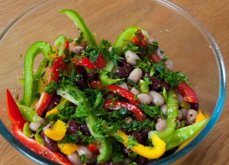 #beans #salad #vegetarian #meatfreemonday #aromatic #filling #healthy