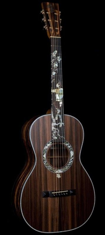 "Oh my lord I want this guitar....  ""Pan God"" Parlour Guitar by Patrick James Eggle"