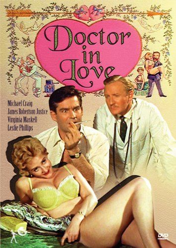 Liz Fraser, Michael Craig and Leslie Phillips star in Doctor In Love. 1960