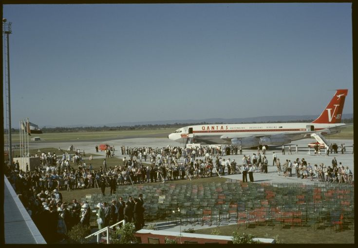 144002PD: Opening, Perth Airport terminal, 1961. http://encore.slwa.wa.gov.au/iii/encore/record/C__Rb4768810__S144002pd__Orightresult__U__X3?lang=eng&suite=def