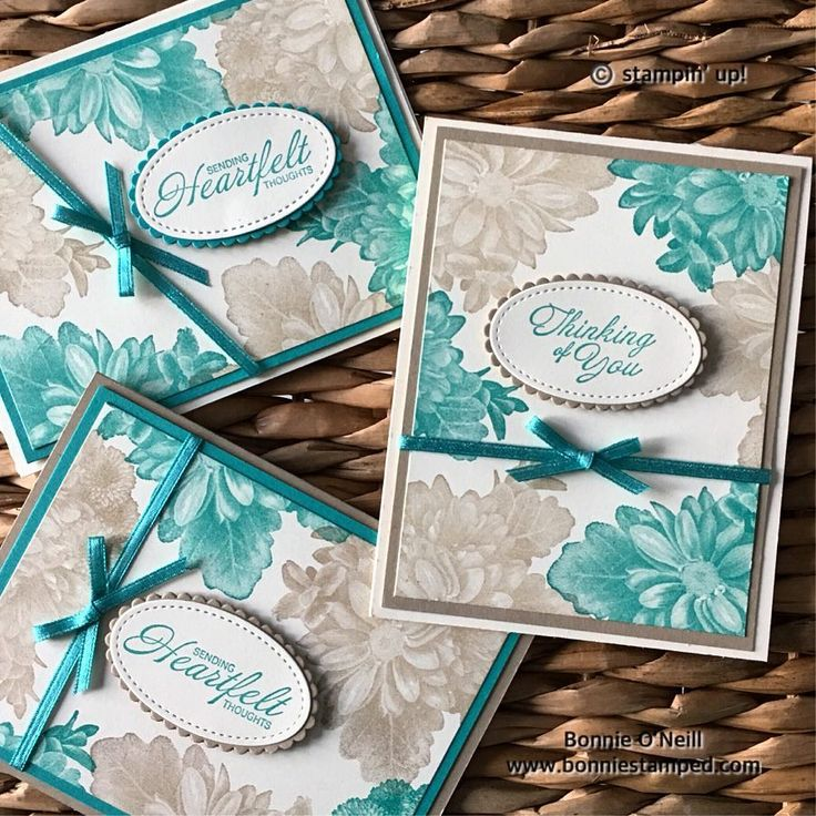 The NEW Heartfelt Blooms Stamp Set is part of the 2018 Sale-a-bration Collection. Very Vanilla, Crumb Cake & Bermuda Bay