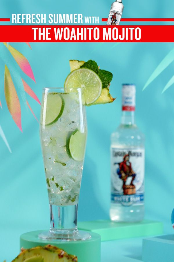 Refresh Summer W The Woahito Mojito Alcoholic Cocktail Recipes Cocktail Drinks Alcoholic Drinks