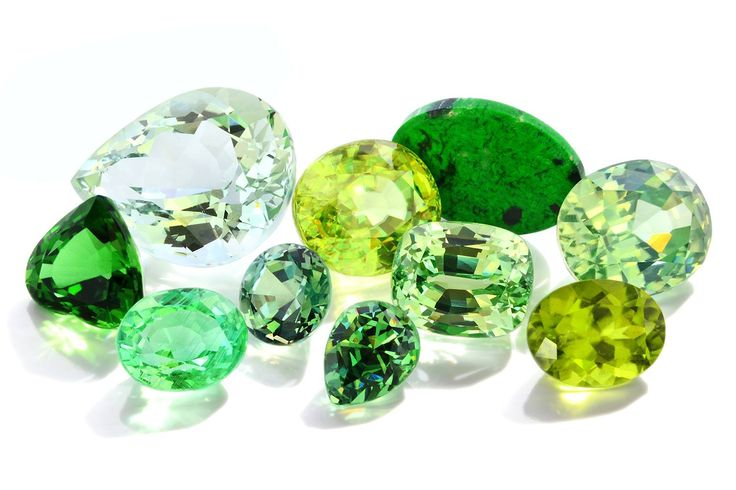 There are three indisputable kings of green in gemstones: Emerald, Tsavorite and Jadeite. Everyone loves green in at least one of its many shades, but not everyone is keen on expensive fragile emeralds or jadeite. So here is our list of 10 other unusual or more obscure examples of green gemstones. 1. Demantoid (Garnet) 2. Green cat's eye quartz 3. Green Zircon 4. Sphene 5. Vanadium Chysoberyl 6. Green Kornerupine 7. Chrome Tourmaline 8. Green Aquamarine 9. Maw Sit Sit 10. Green Vesuvianite