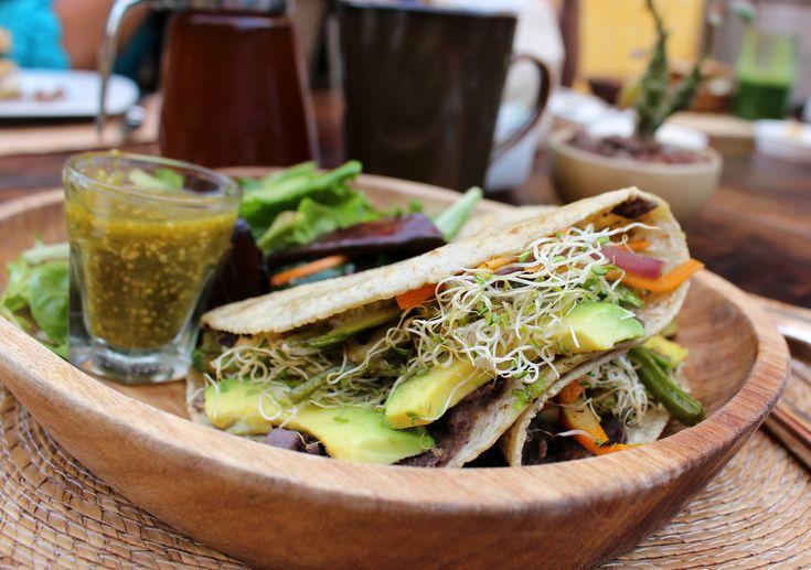 Deliciosa quesadilla de vegetais do restaurante do hotel Cielo Rojo, em San Francisco