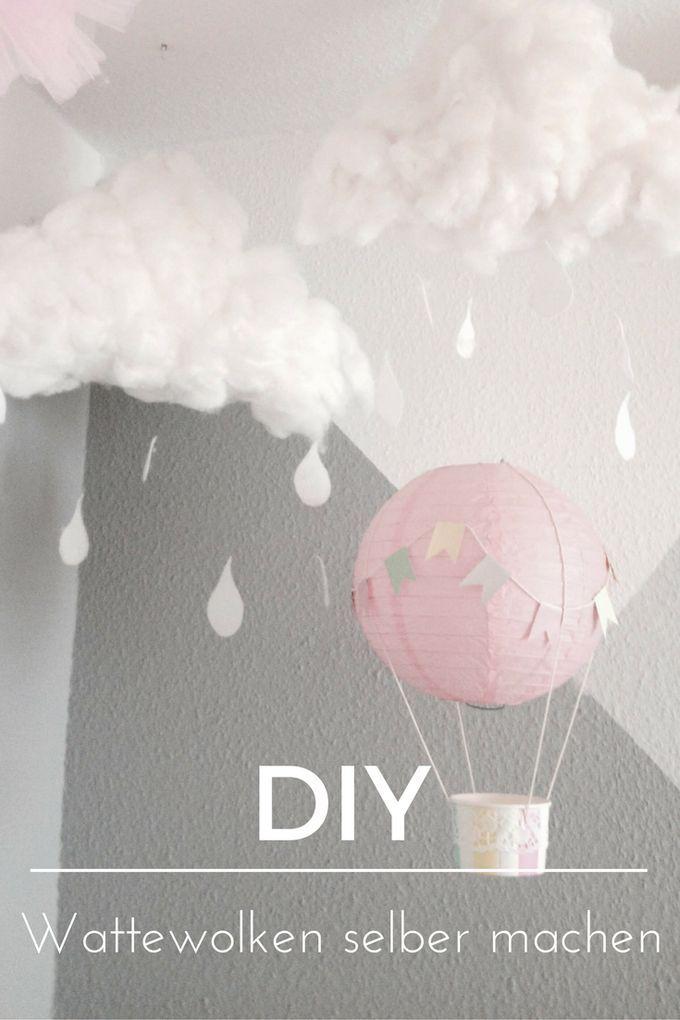 Wattewolken für das Kinderzimmer basteln ° DIY Anleitung