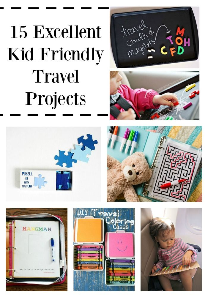 While on a road trip, airplane or even a short ride to Grandma's house, children like to have something fun to do while they travel! And parents do too! Here are 15 great travel projects for kids to do, that are mostly stress free!