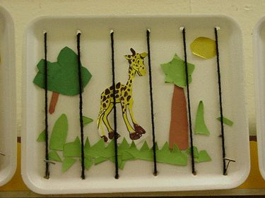 Lacing, cutting, writing, assembling. Great idea for after a zoo field trip!