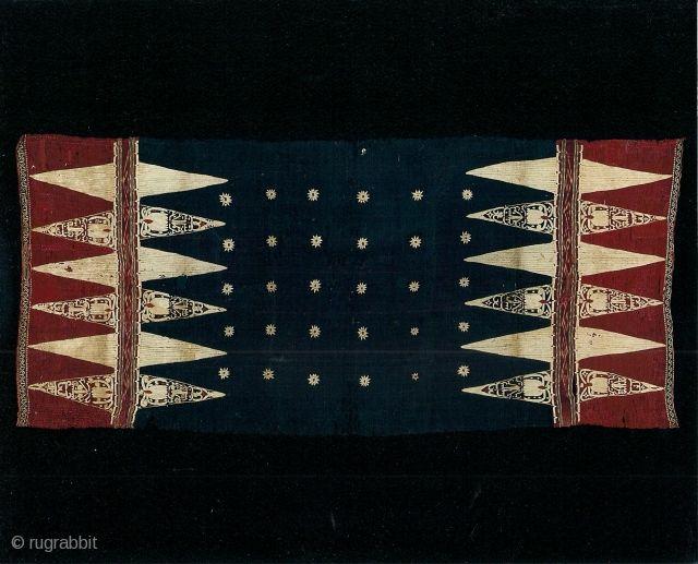 Indonesian textiles Indonesia 001- ceremonial textile  (bidak), Lampung south…