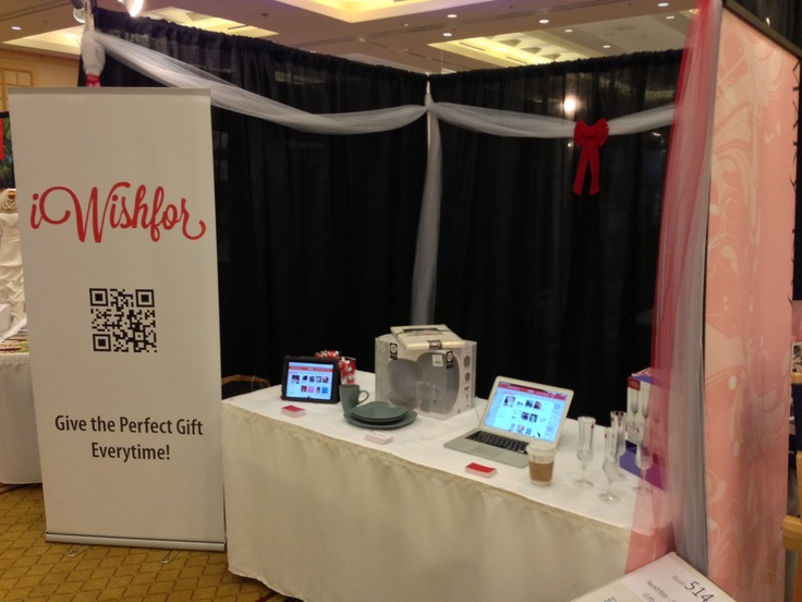 Our iWishfor booth at the Wedding Fair in Vancouver, B.C., Jan. 5th and 6th!