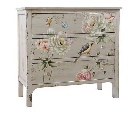 Consola de madera Flor I
