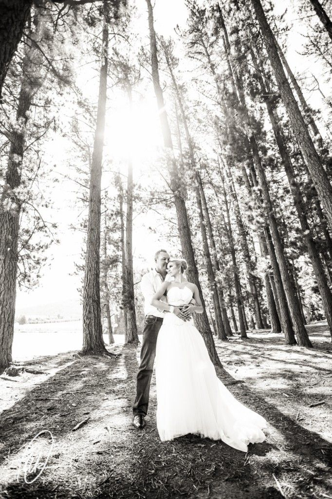 Bride and groom Lourensford Wedding - Pierre & Shannon