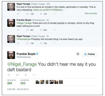 Frankie Boyle and Nigel Farage
