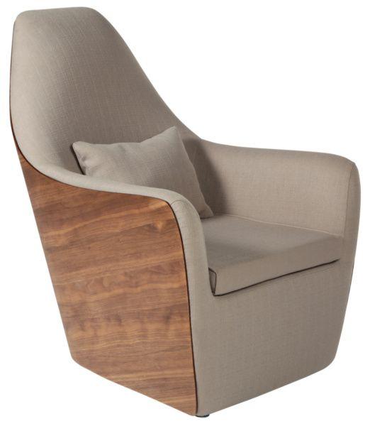Размер (Ш*В*Г): 73*92*88 Футуристическая форма и натуральные материалы – в этом кресле воплощены основные принципы современного дизайна умных, стильных домов. Даже если Вы консервативны, светлая ткань и дорогой шпон демократично сгладят необычную форму Armonia, а мягкая дополнительная подушка подарит Вам царский комфорт.             Метки: Кресла для дома, Кресло для отдыха.              Материал: Ткань, Дерево.              Бренд: MHLIVING.              Стили: Скандинавский и минимализм…