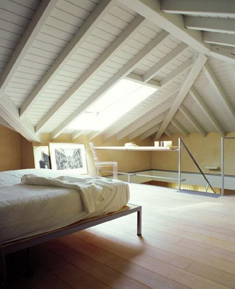 bedroom on the mezzanine