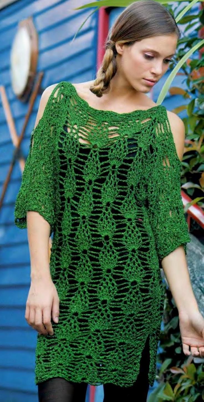 253 best crochet pineapple tops images on pinterest crocheted crochet tunic pattern bankloansurffo Gallery