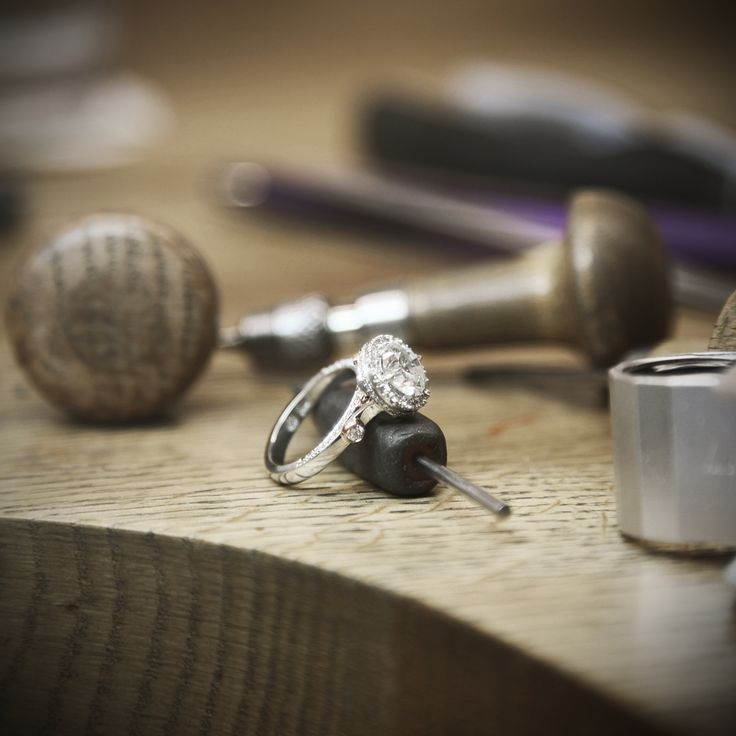 In the process of finishing Georgina's redesigned engagement ring. Handcrafted at Fairfax & Roberts.   Why not dig out your old Jewellery and have it redesigned into something more current. bespoke@fairfaxandroberts.com.au