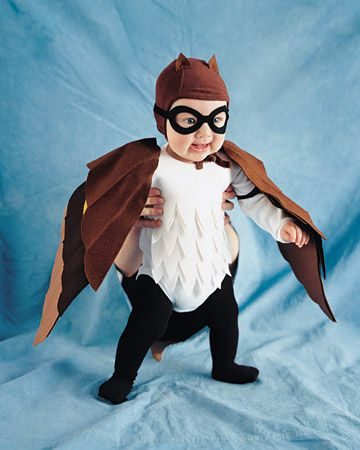 masked baby owl costume from Martha Stewart on Kids Stuff World