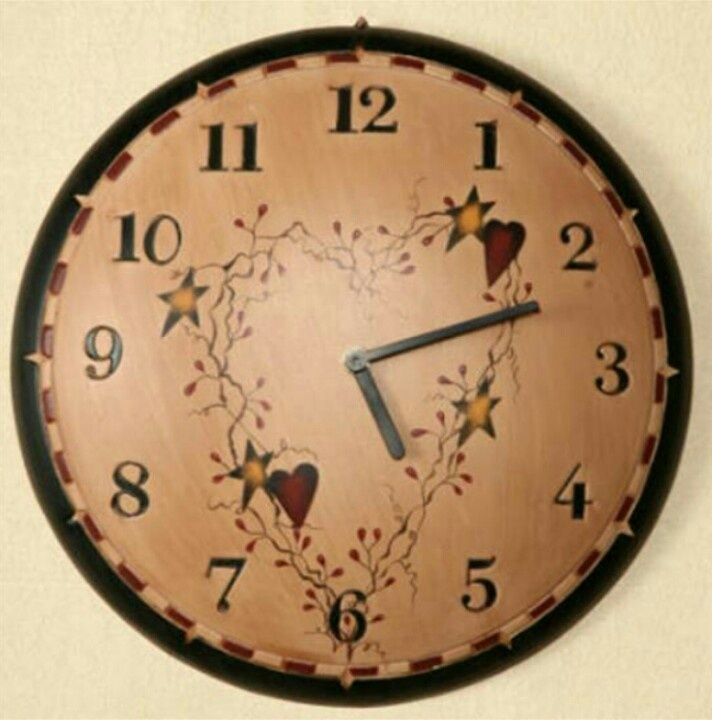 Country Hearts Amp Stars Clock Oh My Stars This Is Cute