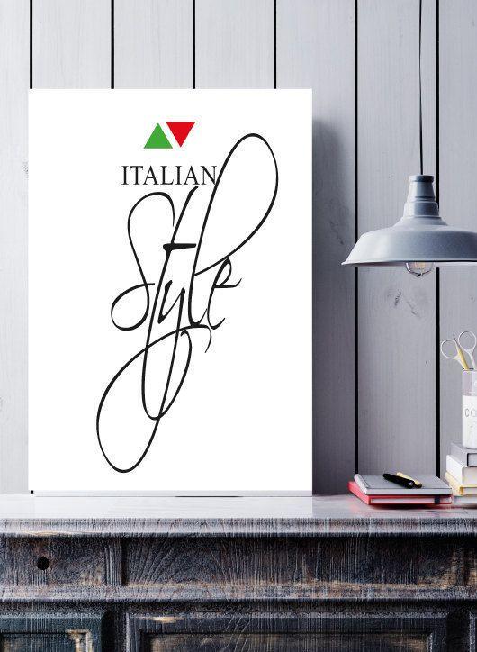Italian Style digital print - Scandinavian style