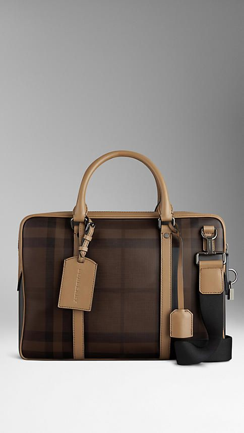 Smoked Check Briefcase | Burberry