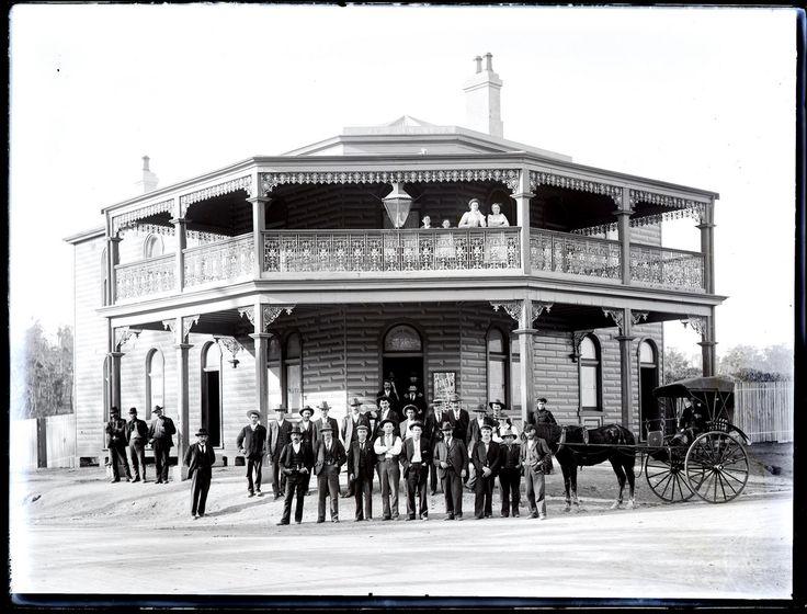 Cardiff Hotel, Cardiff, NSW, 26 July 1902   by UON Library,University of Newcastle, Australia