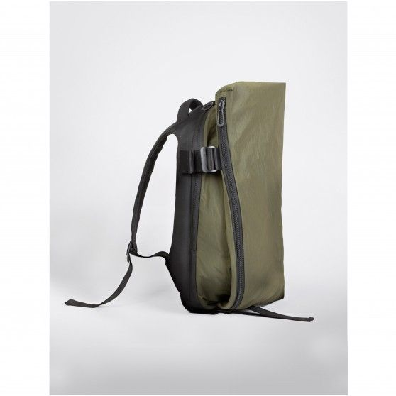 Côte&Ciel Isar Rucksack Twin Touch Memory in Olive Green