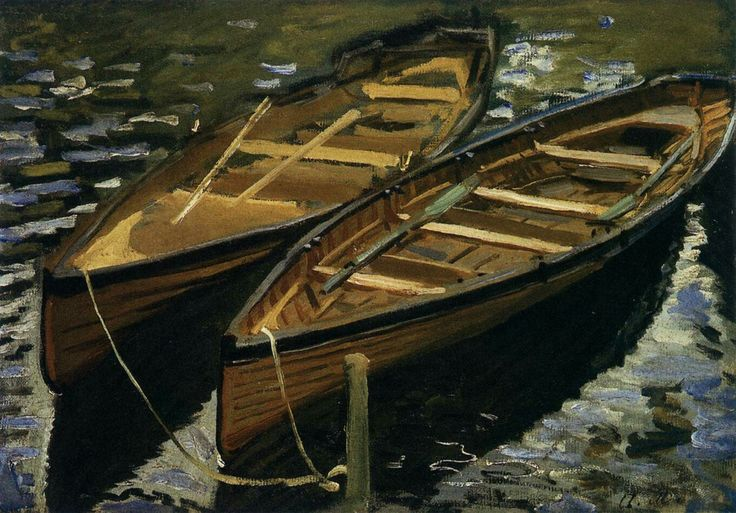 The Boats 1869 Oil on canvas, 33 x 46 cm Kunsthalle, Bremen
