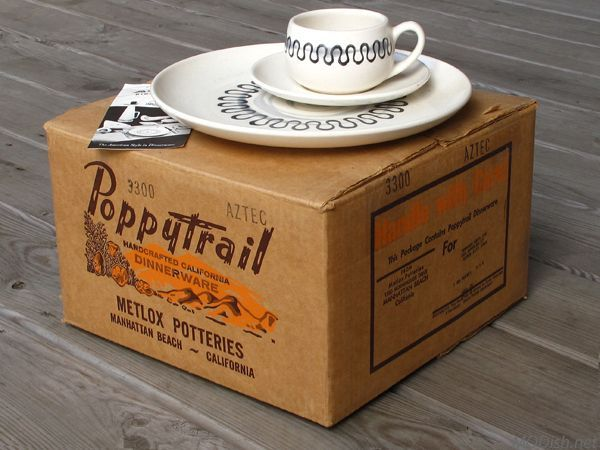 Poppytrail Aztec dinnerware by Metlox Potteries new in the box! & 46 best Mid-Century Dinnerware Pottery and Glass images on ...