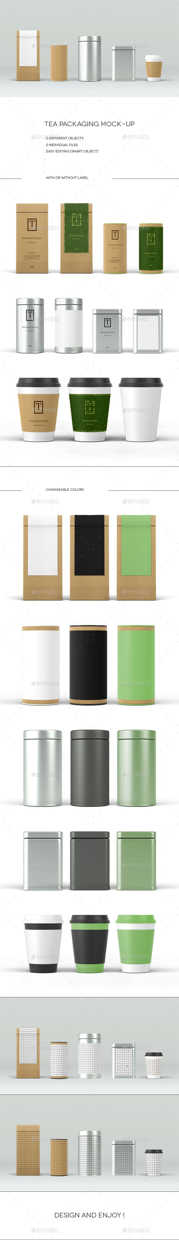 Tea Packaging Mock-Up #design Download: http://graphicriver.net/item/tea-packaging-mockup/14187464?ref=ksioks